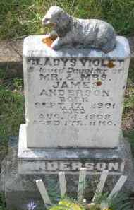 ANDERSON, GLADYS  VIOLET - Lawrence County, South Dakota | GLADYS  VIOLET ANDERSON - South Dakota Gravestone Photos