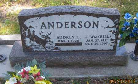 ANDERSON, J. WM.  (BILL) - Lawrence County, South Dakota   J. WM.  (BILL) ANDERSON - South Dakota Gravestone Photos