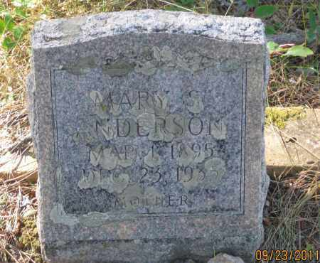 ANDERSON, MARY S, - Lawrence County, South Dakota | MARY S, ANDERSON - South Dakota Gravestone Photos