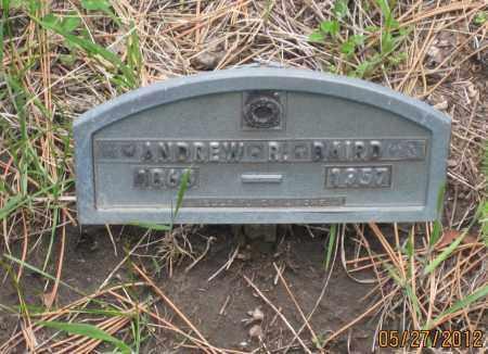 BAIRD, ANDREW R. - Lawrence County, South Dakota   ANDREW R. BAIRD - South Dakota Gravestone Photos