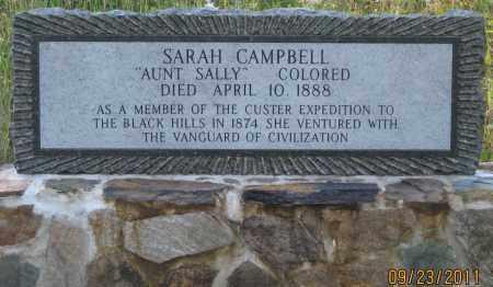 "CAMPBELL, SARAH   ""AUNT SALLY"" - Lawrence County, South Dakota | SARAH   ""AUNT SALLY"" CAMPBELL - South Dakota Gravestone Photos"