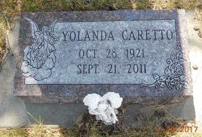 CARETTO, YOLANDA - Lawrence County, South Dakota   YOLANDA CARETTO - South Dakota Gravestone Photos