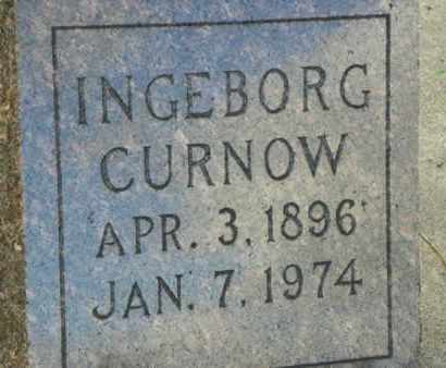 CURNOW, INGEBORG - Lawrence County, South Dakota | INGEBORG CURNOW - South Dakota Gravestone Photos