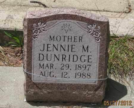 DUNRIDGE, JENNIE  M. - Lawrence County, South Dakota | JENNIE  M. DUNRIDGE - South Dakota Gravestone Photos
