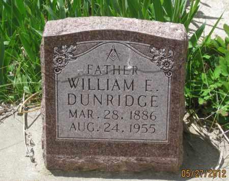 DUNRIDGE, WILLIAM  E. - Lawrence County, South Dakota   WILLIAM  E. DUNRIDGE - South Dakota Gravestone Photos