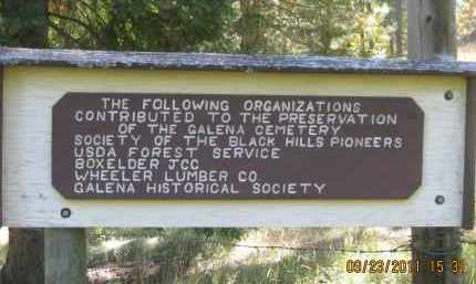 *GALENA CEMETERY, SIGN AT GATE - Lawrence County, South Dakota | SIGN AT GATE *GALENA CEMETERY - South Dakota Gravestone Photos