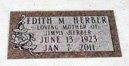 HERBER, EDITH - Lawrence County, South Dakota   EDITH HERBER - South Dakota Gravestone Photos
