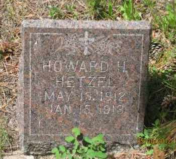 HETZEL, HOWARD  H. - Lawrence County, South Dakota   HOWARD  H. HETZEL - South Dakota Gravestone Photos