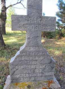HLOSSER, FRANK - Lawrence County, South Dakota | FRANK HLOSSER - South Dakota Gravestone Photos
