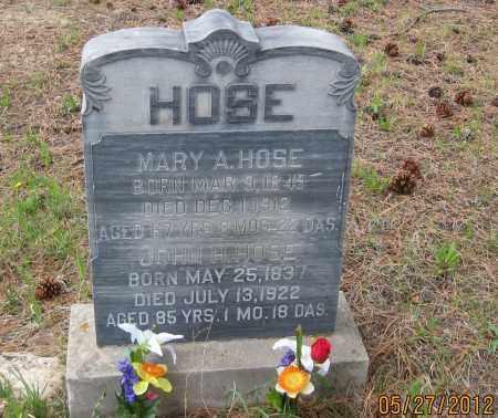HOSE, JOHN H. - Lawrence County, South Dakota   JOHN H. HOSE - South Dakota Gravestone Photos