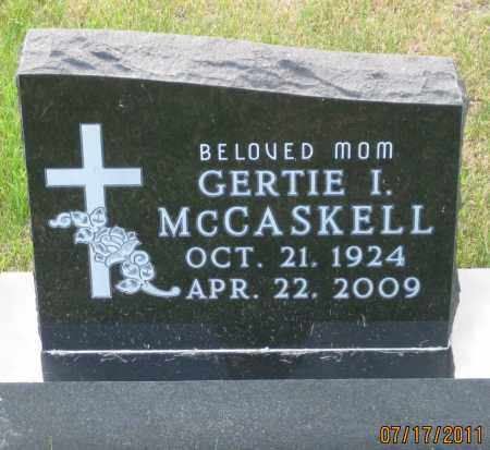 MCCASKELL, GERTIE  I. - Lawrence County, South Dakota | GERTIE  I. MCCASKELL - South Dakota Gravestone Photos