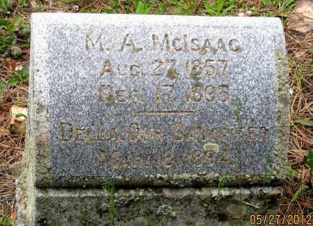 MCISAAC, M. A. - Lawrence County, South Dakota   M. A. MCISAAC - South Dakota Gravestone Photos
