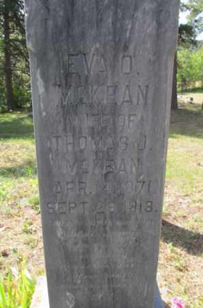 MCKEAN, EVA  O. - Lawrence County, South Dakota   EVA  O. MCKEAN - South Dakota Gravestone Photos