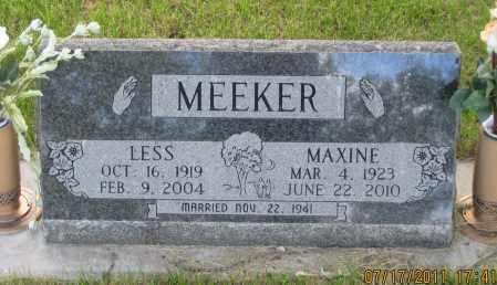 MEEKER, MAXINE - Lawrence County, South Dakota | MAXINE MEEKER - South Dakota Gravestone Photos