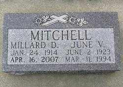 MITCHEL, JUNE  V. - Lawrence County, South Dakota   JUNE  V. MITCHEL - South Dakota Gravestone Photos
