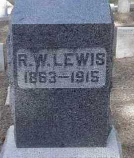 R. W, LEWIS - Lawrence County, South Dakota | LEWIS R. W - South Dakota Gravestone Photos