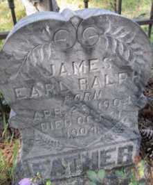 RALPH, JAMES  EARL - Lawrence County, South Dakota   JAMES  EARL RALPH - South Dakota Gravestone Photos