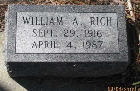 RICH, WILLIAM  A. - Lawrence County, South Dakota | WILLIAM  A. RICH - South Dakota Gravestone Photos