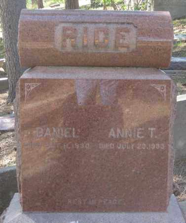 RICE, DANIEL - Lawrence County, South Dakota | DANIEL RICE - South Dakota Gravestone Photos