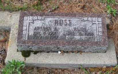 ROSS, ARTHUR  A. - Lawrence County, South Dakota | ARTHUR  A. ROSS - South Dakota Gravestone Photos