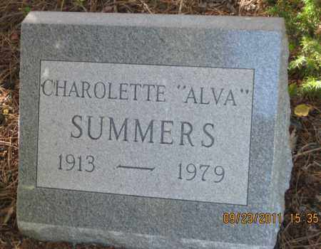 """SUMMERS, CHAROLETTE  """"ALVA"""" - Lawrence County, South Dakota 