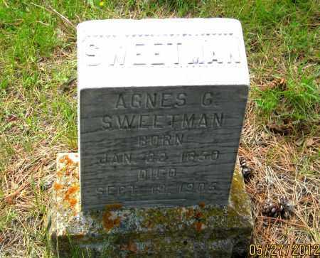 SWEETMAN, AGNES  G. - Lawrence County, South Dakota   AGNES  G. SWEETMAN - South Dakota Gravestone Photos
