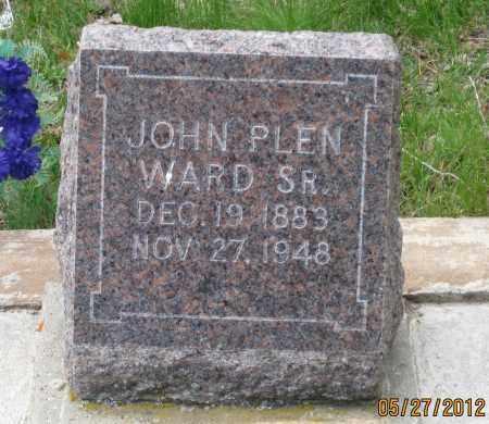WARD, JOHN PLEN  SR. - Lawrence County, South Dakota   JOHN PLEN  SR. WARD - South Dakota Gravestone Photos