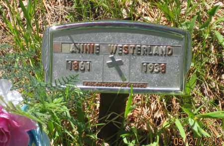 WESTERLAND, ANNIE - Lawrence County, South Dakota | ANNIE WESTERLAND - South Dakota Gravestone Photos
