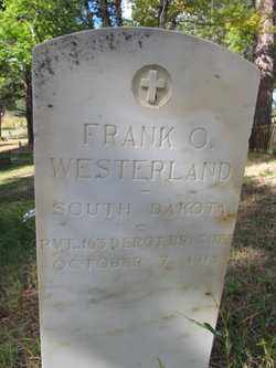 WESTERLAND, FRANK  O. - Lawrence County, South Dakota | FRANK  O. WESTERLAND - South Dakota Gravestone Photos