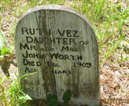 WORTH, RUTH  VEZ - Lawrence County, South Dakota | RUTH  VEZ WORTH - South Dakota Gravestone Photos