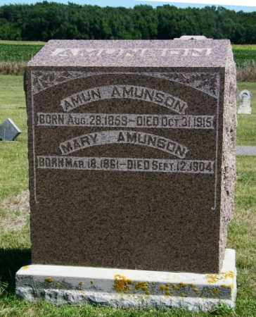 AMUNSON, AMUN - Lincoln County, South Dakota | AMUN AMUNSON - South Dakota Gravestone Photos