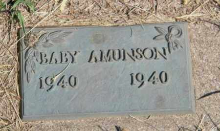 AMUNSON, BABY - Lincoln County, South Dakota | BABY AMUNSON - South Dakota Gravestone Photos