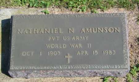 AMUNSON, NATHANIEL N - Lincoln County, South Dakota | NATHANIEL N AMUNSON - South Dakota Gravestone Photos