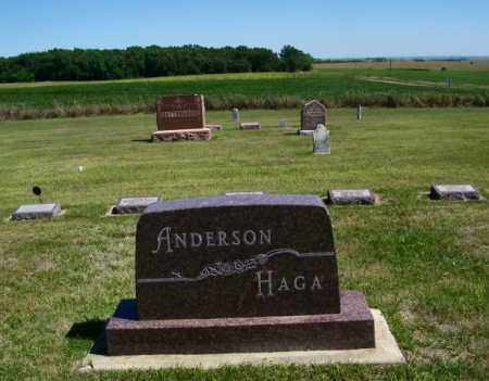 ANDERSON/HAGA PLOT, - - Lincoln County, South Dakota | - ANDERSON/HAGA PLOT - South Dakota Gravestone Photos