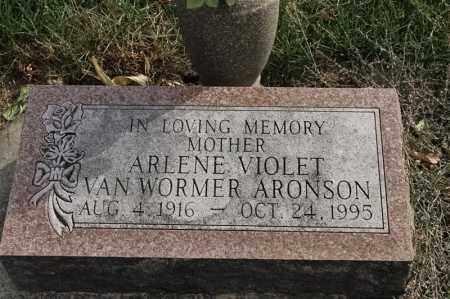 VAN WORMER ARONSON, ARLENE VIOLET - Lincoln County, South Dakota | ARLENE VIOLET VAN WORMER ARONSON - South Dakota Gravestone Photos