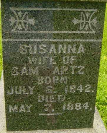 ARTZ, SUSANNA - Lincoln County, South Dakota | SUSANNA ARTZ - South Dakota Gravestone Photos