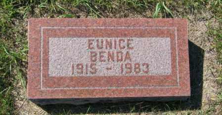 THOMPSON BENDA, EUNICE - Lincoln County, South Dakota | EUNICE THOMPSON BENDA - South Dakota Gravestone Photos