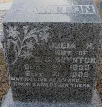 BOYNTON, JULIA H. - Lincoln County, South Dakota   JULIA H. BOYNTON - South Dakota Gravestone Photos