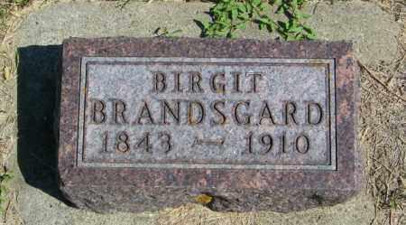 BRANDSGARD, BIRGIT - Lincoln County, South Dakota   BIRGIT BRANDSGARD - South Dakota Gravestone Photos