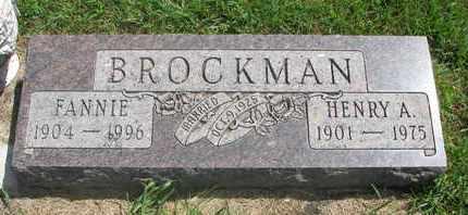 BROCKMAN, FANNIE - Lincoln County, South Dakota | FANNIE BROCKMAN - South Dakota Gravestone Photos