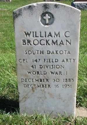 BROCKMAN, WILLIAM C. - Lincoln County, South Dakota | WILLIAM C. BROCKMAN - South Dakota Gravestone Photos