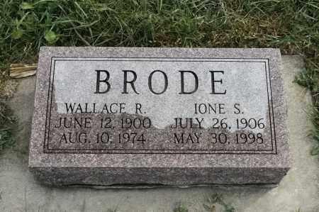 BRODE, IONE S - Lincoln County, South Dakota | IONE S BRODE - South Dakota Gravestone Photos