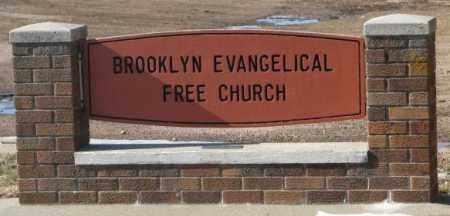 **BROOKLYN EVANGELICAL, FRONT SIGN - Lincoln County, South Dakota | FRONT SIGN **BROOKLYN EVANGELICAL - South Dakota Gravestone Photos