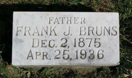 BRUNS, FRANK J. - Lincoln County, South Dakota | FRANK J. BRUNS - South Dakota Gravestone Photos
