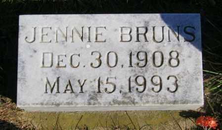BRUNS, JENNIE - Lincoln County, South Dakota | JENNIE BRUNS - South Dakota Gravestone Photos