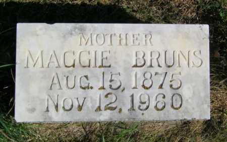 BRUNS, MAGGIE - Lincoln County, South Dakota | MAGGIE BRUNS - South Dakota Gravestone Photos