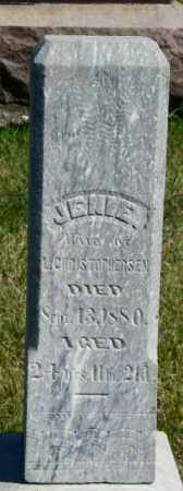 CHHRISTOPHERSEN, JENIE - Lincoln County, South Dakota   JENIE CHHRISTOPHERSEN - South Dakota Gravestone Photos