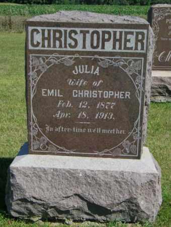 CHRISTOPHER, JULIA - Lincoln County, South Dakota | JULIA CHRISTOPHER - South Dakota Gravestone Photos
