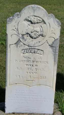 CHRISTOPHERSEN, JULIA - Lincoln County, South Dakota | JULIA CHRISTOPHERSEN - South Dakota Gravestone Photos