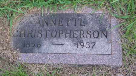 CHRISTOPHERSON, ANNETTE - Lincoln County, South Dakota | ANNETTE CHRISTOPHERSON - South Dakota Gravestone Photos